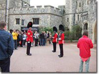 Guardias en el castillo de Windsor