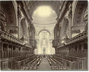 Imagen antigua interior catedral St Paul en Londres