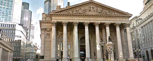 Fachada del Banco de Inglaterra