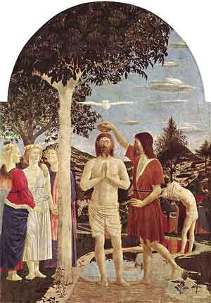 Pintura el Bautismo de Cristo