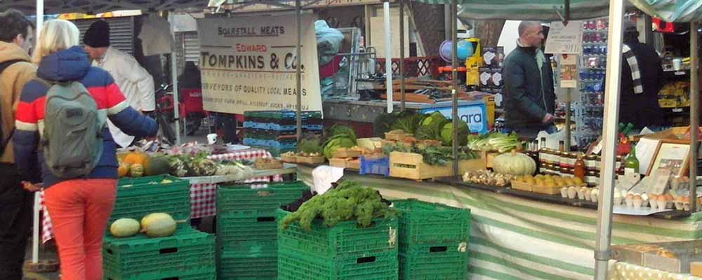 Puestos mercado de Brixton